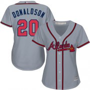 Wholesale Cheap Braves #20 Josh Donaldson Grey Road Women's Stitched MLB Jersey