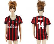 Wholesale Cheap Women's AC Milan #14 Mati Home Soccer Club Jersey