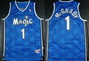 Wholesale Cheap Orlando Magic #1 Tracy McGrady Blue All-Star Swingman Throwback Jersey