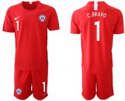Wholesale Cheap Chile #1 C.Bravo Home Soccer Country Jersey