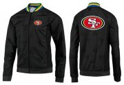 Wholesale Cheap NFL San Francisco 49ers Team Logo Jacket Black_4