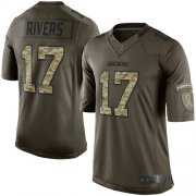 Wholesale Cheap Nike Chargers #17 Philip Rivers Green Men's Stitched NFL Limited 2015 Salute to Service Jersey