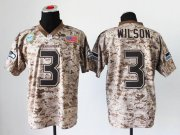 Wholesale Cheap Nike Seahawks #3 Russell Wilson Camo Men's Stitched NFL New Elite USMC Jersey