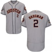 Wholesale Cheap Astros #2 Alex Bregman Grey Flexbase Authentic Collection 2019 World Series Bound Stitched MLB Jersey