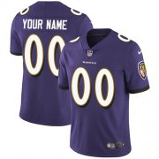 Wholesale Cheap Nike Baltimore Ravens Customized Purple Team Color Stitched Vapor Untouchable Limited Youth NFL Jersey