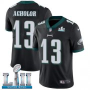 Wholesale Cheap Nike Eagles #13 Nelson Agholor Black Alternate Super Bowl LII Youth Stitched NFL Vapor Untouchable Limited Jersey