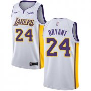 Wholesale Cheap Nike Los Angeles Lakers #24 Kobe Bryant White NBA Swingman Association Edition Jersey