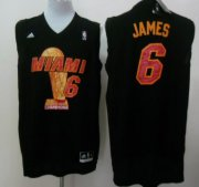 Wholesale Cheap Miami Heat #6 LeBron James 2013 NBA Champions Black Fashion Jersey