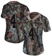 Wholesale Cheap Nike Packers #4 Brett Favre Camo Women's Stitched NFL Limited Rush Realtree Jersey