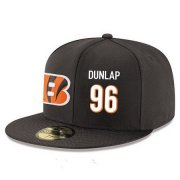 Wholesale Cheap Cincinnati Bengals #96 Carlos Dunlap Snapback Cap NFL Player Black with White Number Stitched Hat
