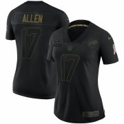 Cheap Buffalo Bills #17 Josh Allen Nike Women's 2020 Salute To Service Limited Jersey Black