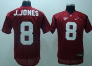 Wholesale Cheap Alabama Crimson Tide #8 J.Jones Red Jersey