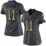 Wholesale Cheap Nike Patriots #11 Julian Edelman Black Women's Stitched NFL Limited 2016 Salute to Service Jersey
