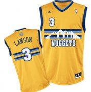 Wholesale Cheap Denver Nuggets #3 Ty Lawson Yellow Swingman Jersey