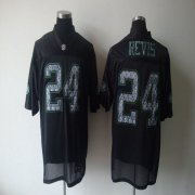 Wholesale Cheap Sideline Black United Jets #24 Darrelle Revis Black Stitched NFL Jersey