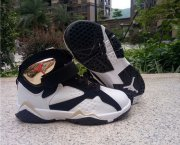 Wholesale Cheap Kid's Air Jordan 7 Shoes White/Black-Gold