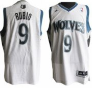 Wholesale Cheap Minnesota Timberwolves #9 Ricky Rubio Revolution 30 Swingman White Jersey