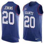 Wholesale Cheap Nike Giants #20 Janoris Jenkins Royal Blue Team Color Men's Stitched NFL Limited Tank Top Jersey