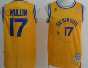Wholesale Cheap Golden State Warriors #17 Chris Mullin Yellow Swingman Throwback Jersey