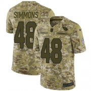 Wholesale Cheap Nike Cardinals #48 Isaiah Simmons Camo Youth Stitched NFL Limited 2018 Salute To Service Jersey