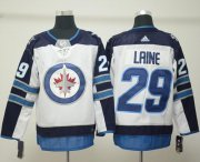 Wholesale Cheap Adidas Jets #29 Patrik Laine White Road Authentic Stitched NHL Jersey