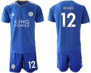Wholesale Cheap Leicester City #12 Ward Home Soccer Club Jersey