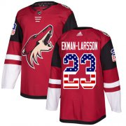 Wholesale Cheap Adidas Coyotes #23 Oliver Ekman-Larsson Maroon Home Authentic USA Flag Stitched Youth NHL Jersey