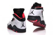 Wholesale Cheap Womens Air Jordan 10 Shoes White/Black-Red