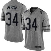 Wholesale Cheap Nike Bears #34 Walter Payton Gray Men's Stitched NFL Limited Gridiron Gray Jersey