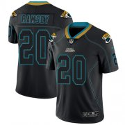 Wholesale Cheap Nike Jaguars #20 Jalen Ramsey Lights Out Black Men's Stitched NFL Limited Rush Jersey
