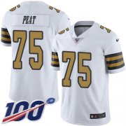 Wholesale Cheap Nike Saints #75 Andrus Peat White Youth Stitched NFL Limited Rush 100th Season Jersey