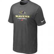 Wholesale Cheap Nike Baltimore Ravens Big & Tall Critical Victory NFL T-Shirt Dark Grey