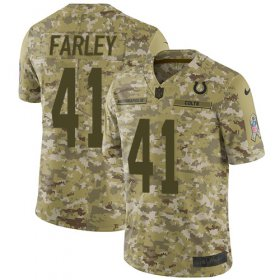 Wholesale Cheap Nike Colts #41 Matthias Farley Camo Youth Stitched NFL Limited 2018 Salute to Service Jersey