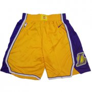 Wholesale Cheap Los Angeles Lakers Yellow Nike NBA Shorts