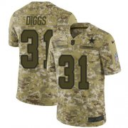 Wholesale Cheap Nike Cowboys #31 Trevon Diggs Camo Youth Stitched NFL Limited 2018 Salute To Service Jersey