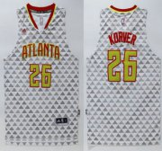Wholesale Cheap Men's Atlanta Hawks #26 Kyle Korver Revolution 30 Swingman 2015-16 New White Jersey