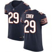 Wholesale Cheap Nike Bears #29 Tarik Cohen Navy Blue Team Color Men's Stitched NFL Vapor Untouchable Elite Jersey