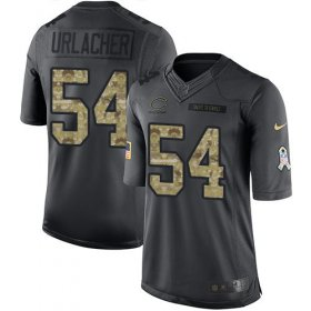 Wholesale Cheap Nike Bears #54 Brian Urlacher Black Men\'s Stitched NFL Limited 2016 Salute to Service Jersey
