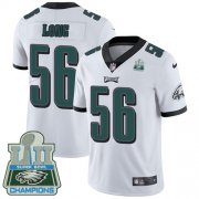Wholesale Cheap Nike Eagles #56 Chris Long White Super Bowl LII Champions Youth Stitched NFL Vapor Untouchable Limited Jersey