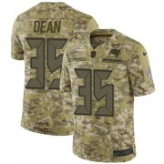 Wholesale Cheap Nike Buccaneers #35 Jamel Dean Camo Men's Stitched NFL Limited 2018 Salute To Service Jersey