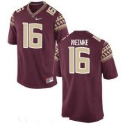 Wholesale Cheap Men's Florida State Seminoles #16 Chris Weinke Red Stitched College Football 2016 Nike NCAA Jersey