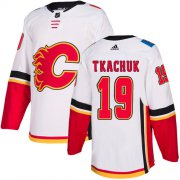 Wholesale Cheap Adidas Flames #19 Matthew Tkachuk White Road Authentic Stitched Youth NHL Jersey