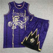Wholesale Cheap Raptors 15 Vince Carter Purple 1998-99 Hardwood Classics Jersey(With Shorts)