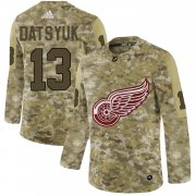 Wholesale Cheap Adidas Red Wings #13 Pavel Datsyuk Camo Authentic Stitched NHL Jersey