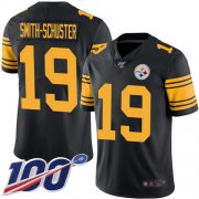 Wholesale Cheap Nike Steelers #19 JuJu Smith-Schuster Black Youth Stitched NFL Limited Rush 100th Season Jersey
