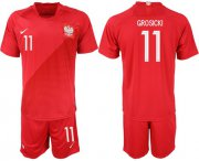 Wholesale Cheap Poland #11 Grosicki Away Soccer Country Jersey