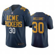 Wholesale Cheap Green Bay Packers #30 Jamaal Williams Navy Vapor Limited City Edition NFL Jersey