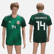 Wholesale Cheap Mexico #14 Chicharito Green Training Soccer Country Jersey