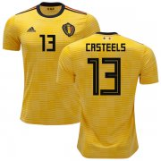 Wholesale Cheap Belgium #13 Casteels Away Soccer Country Jersey