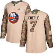 Wholesale Cheap Adidas Islanders #7 Jordan Eberle Camo Authentic 2017 Veterans Day Stitched NHL Jersey
